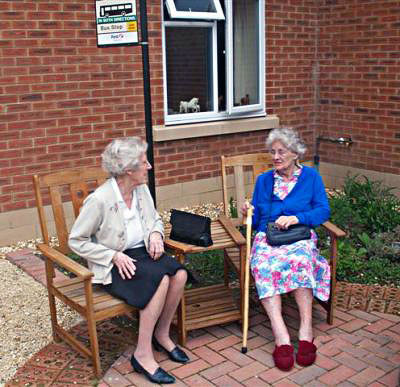 Residents of the dementia care home